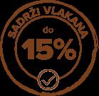 15% vlakana